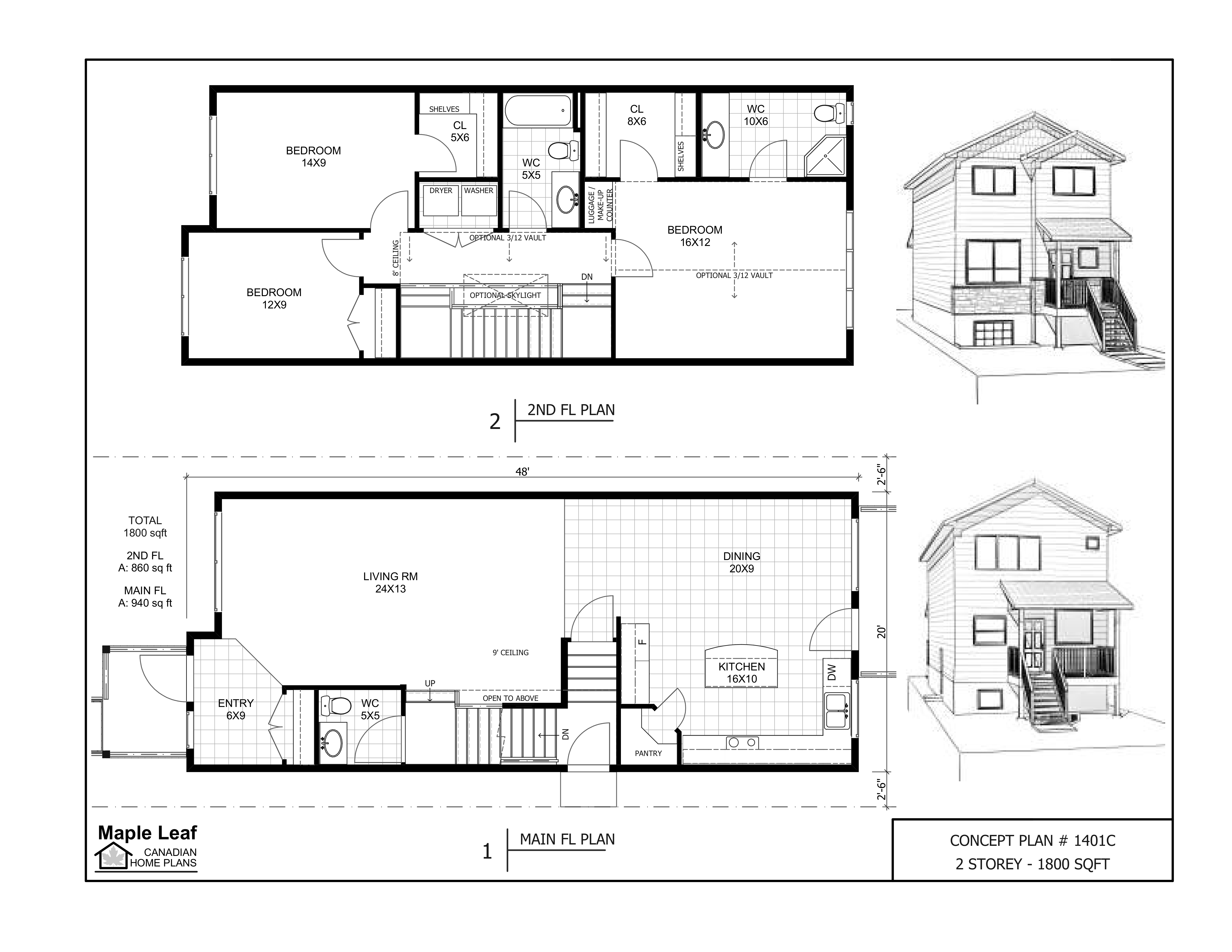 MLCHP 1401C CONCEPT 2 STOREY 1800SQFT 25 FT LOT